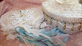 Shabby Chic Box and Mini Book + How To with Tresors de Luxe