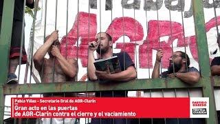 getlinkyoutube.com-Gran acto en las puertas de AGR-Clarín ocupada // Pablo Viñas