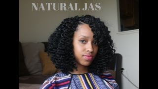 getlinkyoutube.com-CROCHET BRAIDS cut into a CUTE BOB | NATURAL JAS | MAMBO TWIST