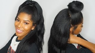 getlinkyoutube.com-Half up Half Down using Clip ins  Ft.KnappyHairExtensions