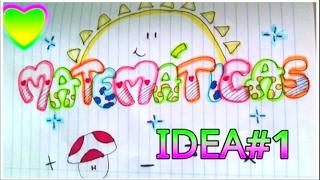 Marca tus cuadernos idea#1 / Allmagicfull❤