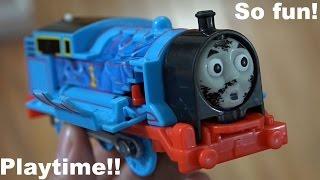 getlinkyoutube.com-Thomas & Friends Toys: Crash & Repair Thomas Trackmaster Playtime w/ Maya :-)