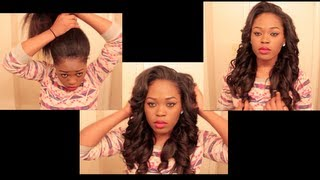 getlinkyoutube.com-Versatile & Natural Looking Sew In You Can Put In A High Ponytail