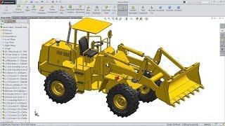 getlinkyoutube.com-Solidworks tutorial | Sketch Wheel Loader in Solidworks