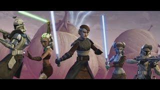 getlinkyoutube.com-Star Wars: The Clone Wars - Ahsoka, Anakin & Aayla vs. Separatist droid army [1080p]