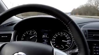 getlinkyoutube.com-Nissan Pulsar 1.6 DIG-T GT topspeed test - 190HP