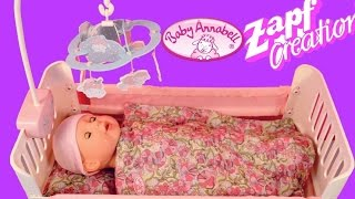 getlinkyoutube.com-Baby Annabell Bed with Lullaby - Zapf Creation Baby Doll and Doll bed