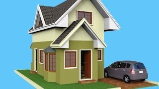 Small House Design - Attic 3D Rendered