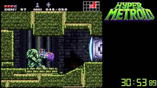 getlinkyoutube.com-Hyper Metroid Any% Speedrun - 1:20:28