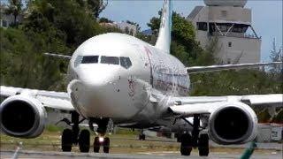 getlinkyoutube.com-Caribbean Airlines Boeing 737-800 HD Takeoff St.Marteen