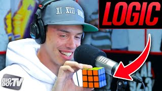 getlinkyoutube.com-Rapper Logic Solves A Rubiks Cube During Freestyle! | BigBoyTV