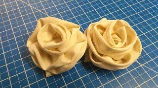 طريقة عمل وردة سهلة و بسيطة من القماش.      (3)       DIY