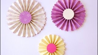 getlinkyoutube.com-Tutorial: Coccarde di carta - DIY Rosette