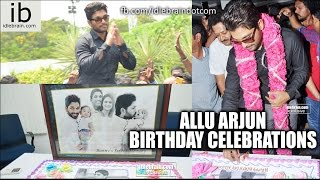 Allu Arjun Birthday Celebrations 8 April 2015 Video