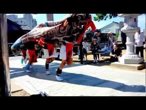 2012年 石川県志賀町高浜町 【小濱神社秋季祭礼】 獅子舞
