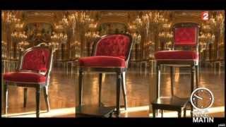 getlinkyoutube.com-Henryot & Cie aménage l'opéra Garnier à Paris   Télématin France 2   samedi 23 janvier 2014