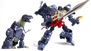 getlinkyoutube.com-【超巨大合体ロボ修羅王 2/6】G1ダイノボット グリムロックっぽい人 ラス レビュー GCreation Shuraking SRK-03 Wrath not Dinobots Grimlock