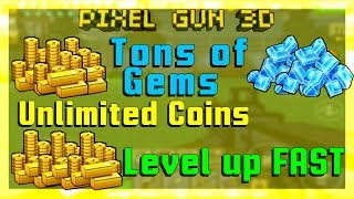 Pixel Gun 3D How to get coins FAST!!! Level up FAST! [AFTER 10.0.9] 2015 (No hacks!)