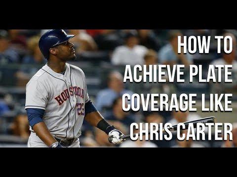Chris Carter Swing Analysis   Plate Coverage, Pitching Tracking & Hitting Off Speed