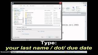ASSIGNMENT sample (tutorial)
