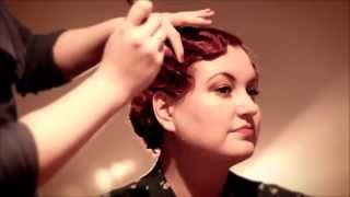 getlinkyoutube.com-Fabulous Finger Waves - 1920s & 1930s finger wave tutorial