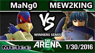 getlinkyoutube.com-PAX South Arena - C9 Mango (Falco) Vs. CoG MVG | Mew2King (Marth) SSBM Winners Semis - Smash Melee