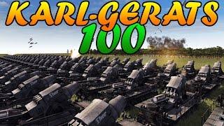 getlinkyoutube.com-Men of War Assault Squad 2 - 100 600MM KARL-GERÄT vs SOVIET ASSAULT - Editor Scenario #51