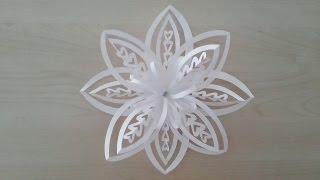 getlinkyoutube.com-Volumetric 3D snowflake out of paper. 3D Paper Snowflake