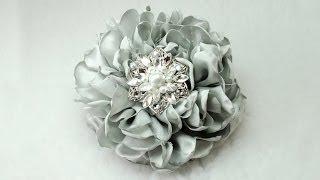 """getlinkyoutube.com-DIY Gorgeous 6"""" Fabric Flower, Tutorial, DIY, How to do"""
