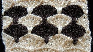 getlinkyoutube.com-Crochet : Punto Abanico en Relieve. Parte 2 de 3