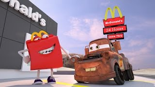 getlinkyoutube.com-Mater Misbehaves at McDonald's ! Disney Pixar CARS TOYS MOVIES Happy Meal BURGER | Day: 1&2