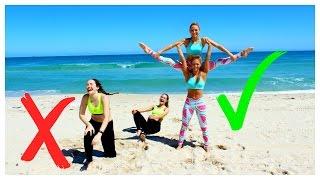 getlinkyoutube.com-EXTREME YOGA Challenge TWINS Vs Sisters!
