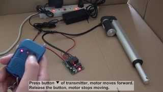 getlinkyoutube.com-How to control linear actuator motor by ordinary 2ch rf remote control kit?