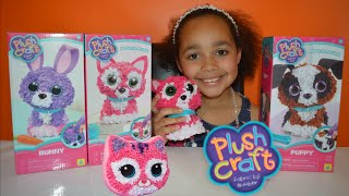getlinkyoutube.com-NEW DIY 3D PlushCraft - Kitty, Bunny,Puppy - Kids Review | Toys AndMe