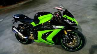 getlinkyoutube.com-AroverA Thailand / Leovince corsa Factory R full system for ZX10R