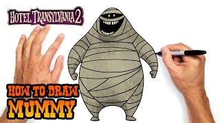 getlinkyoutube.com-How to Draw Mummy (Hotel Transylvania 2)- Easy Art Lesson