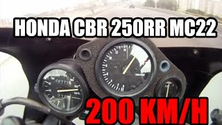 getlinkyoutube.com-Honda CBR 250RR - TOP SPEED 200 km/h