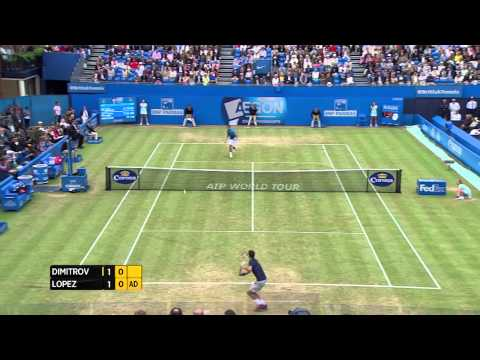 Grigor Dimitrov vs. Feliciano Lopez - Aegon Championships Finals Day match highlights