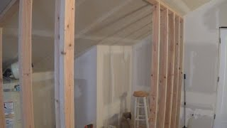 getlinkyoutube.com-How to Frame a Wall with a Sloping Ceiling