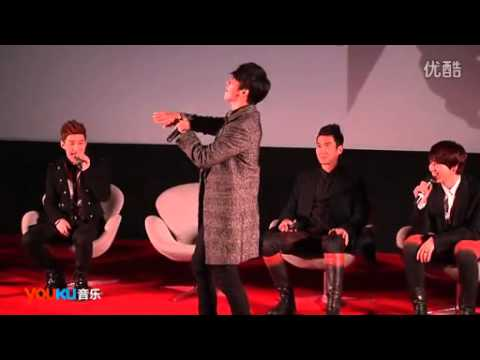 Super Junior M Press Conference Highlight Donghae ft Kyuhyun Dance 130107