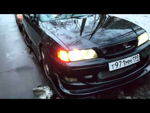 Chaser JZX 100 тонировка фар и поворотников