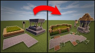 getlinkyoutube.com-Minecraft: How To Remodel A Village - Well, Farms, Lamp Post, & Roads