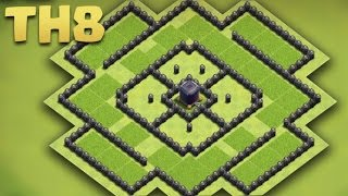 getlinkyoutube.com-Clash of Clans - Town Hall 8 Best Dark Elixir Base (TH8 Troll Farming Base) + Replays 2016