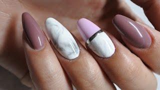 Efekt marmuru na paznokciach Indigo