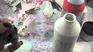 getlinkyoutube.com-Shabby Chic Ornament #2 Tutorial
