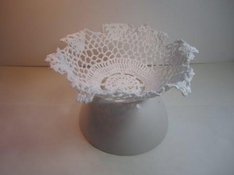 Cómo hacer un dulcero a ganchillo-- Crochet Bowl