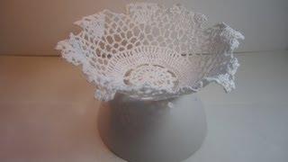 getlinkyoutube.com-Cómo hacer un dulcero a ganchillo-- Crochet Bowl