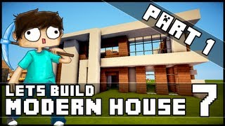 getlinkyoutube.com-Minecraft Lets Build: Modern House 7 - Part 1