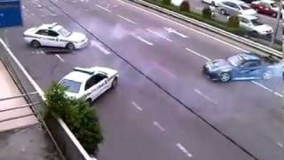 getlinkyoutube.com-Drift - Police chasing Street Racer on highway. Very Funny. jdm cars imports