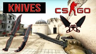 getlinkyoutube.com-CS:GO KNIVES «CounterStrike GO» Bowie Knife, Falchion Knife, Shadow Daggers + Animations